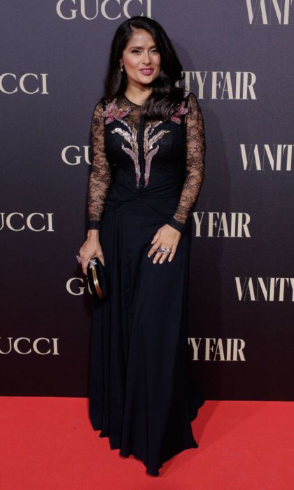 Salma Hayek attends 'Personality of the Year' (Personaje del Ano) Awards at Royal Theatre on September 26, 2018 in Madrid, Spain